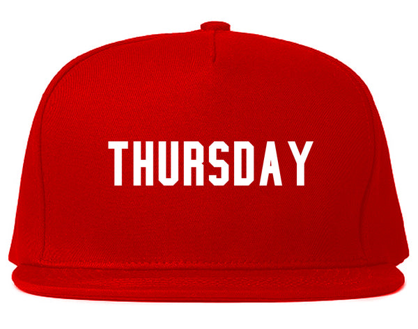 Thursday Days Of The Week Red Snapback Hat