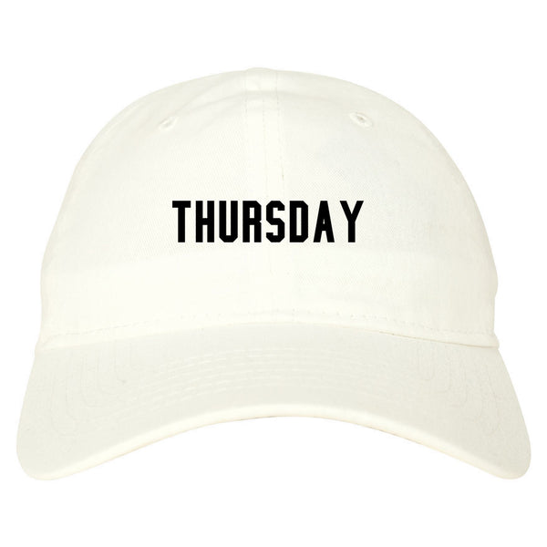 Thursday Days Of The Week white dad hat
