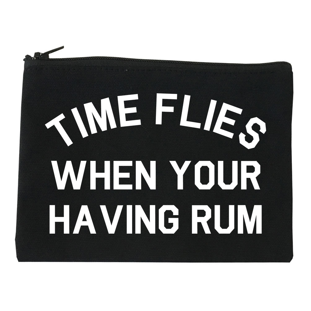 Time Flies When Your Having Rum Funny Makeup Bag Red