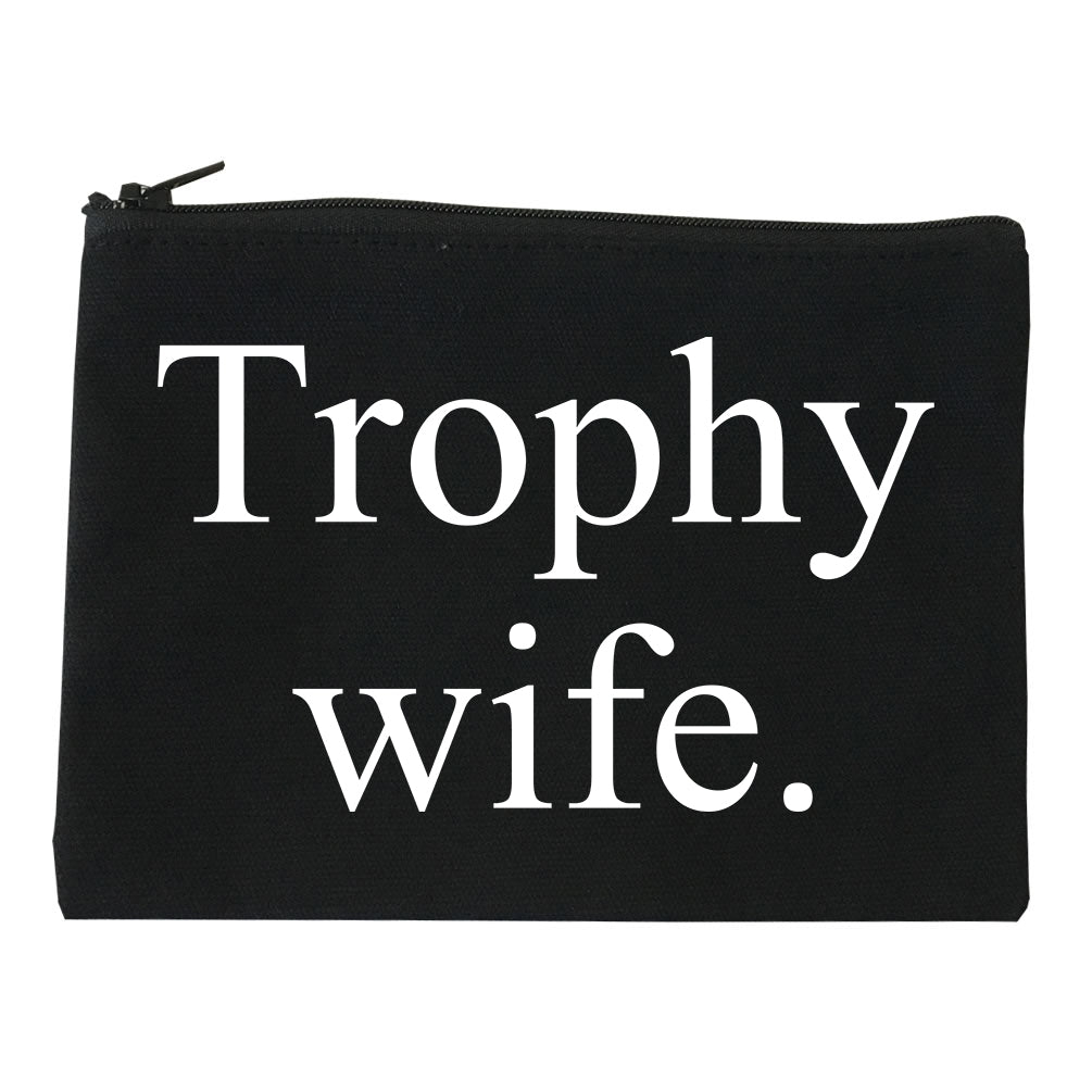 Trophy Wife Funny Wifey Gift Makeup Bag Red