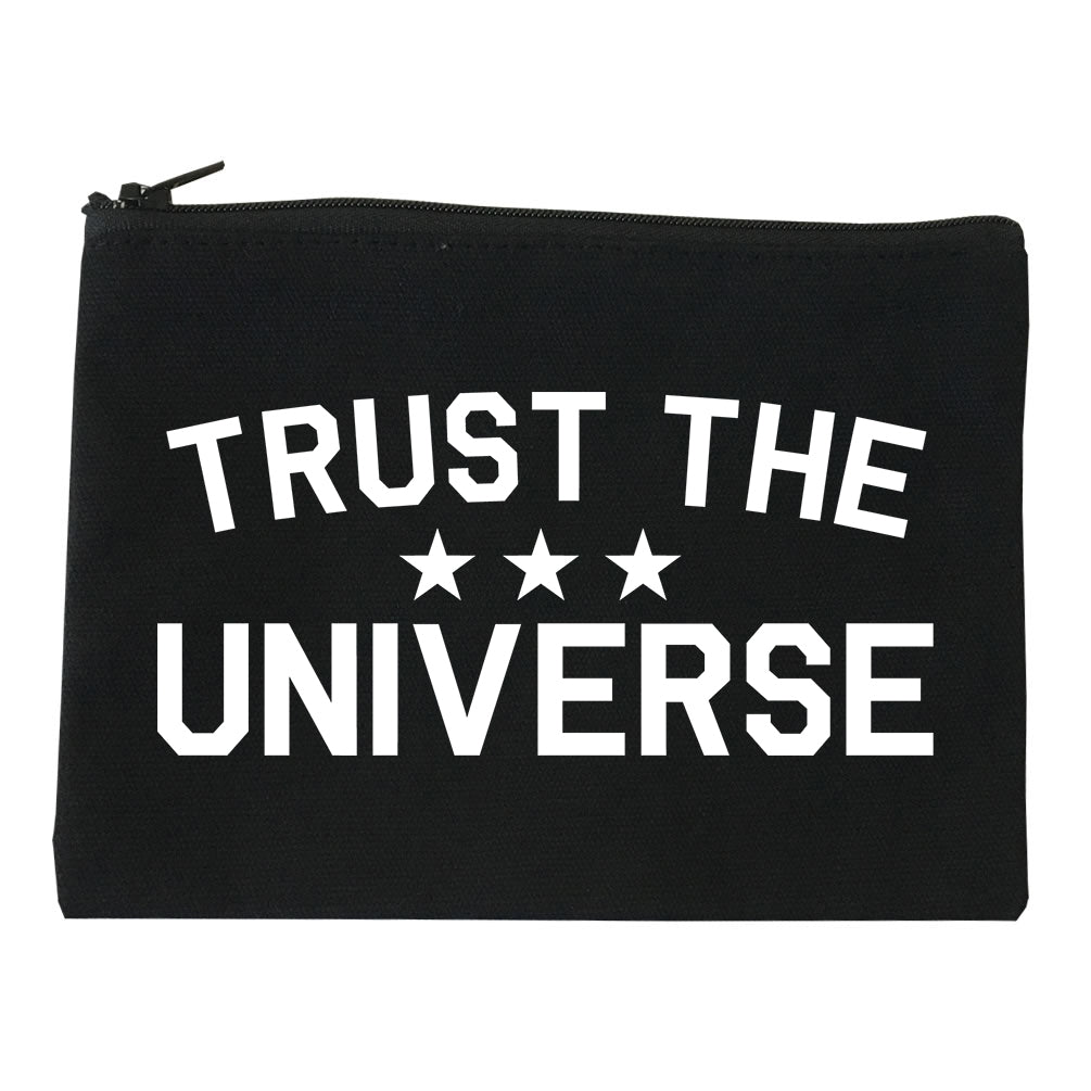 Trust The Universe Mantra Makeup Bag Red