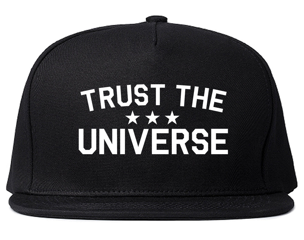 Trust The Universe Mantra Snapback Hat Black