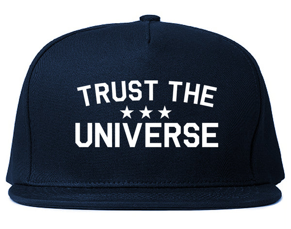 Trust The Universe Mantra Snapback Hat Blue