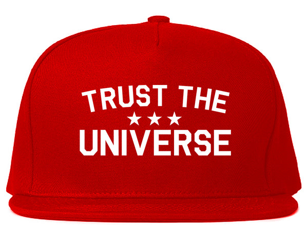 Trust The Universe Mantra Snapback Hat Red