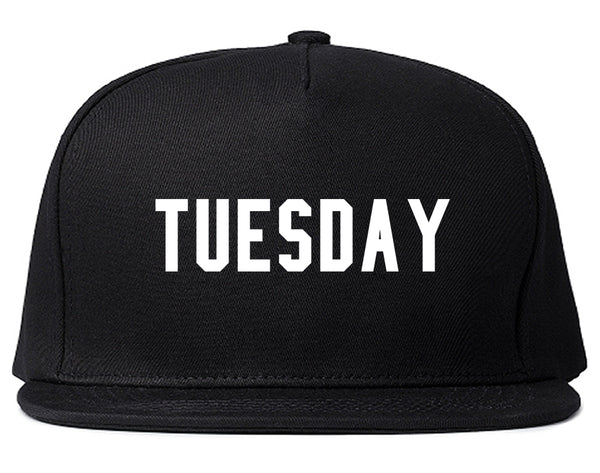 Tuesday Days Of The Week Black Snapback Hat