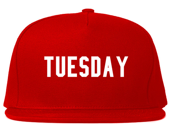 Tuesday Days Of The Week Red Snapback Hat