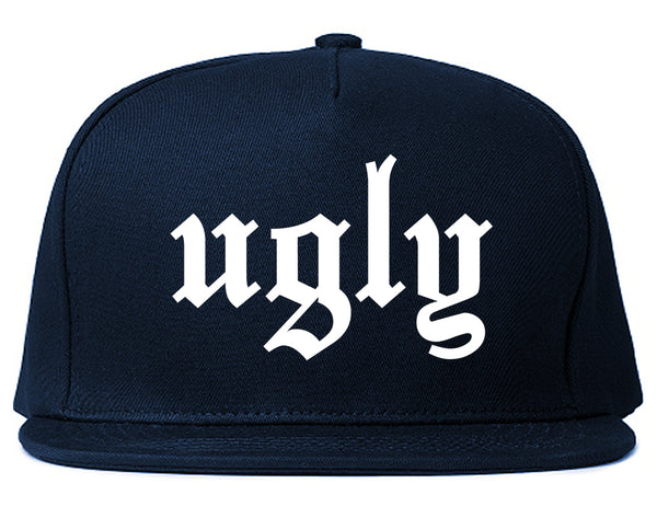 Ugly Olde English Chest Blue Snapback Hat