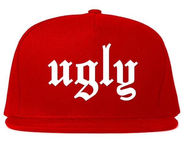 Ugly Olde English Chest Red Snapback Hat