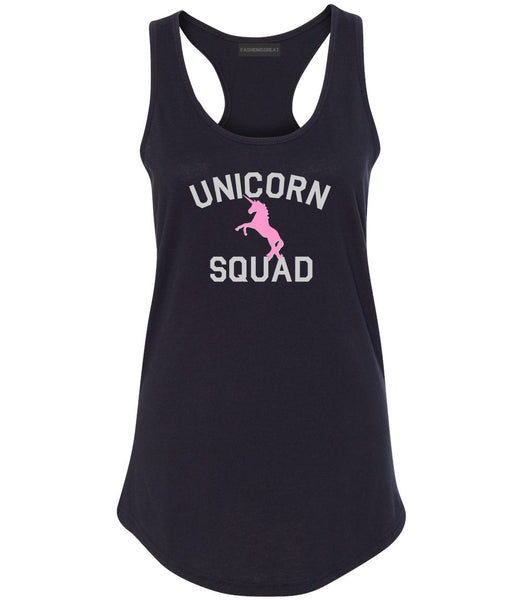 Unicorn Squad Funny Black Womens Racerback Tank Top