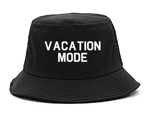 Vacation Mode Black Bucket Hat