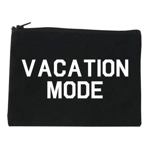Vacation Mode Black Makeup Bag