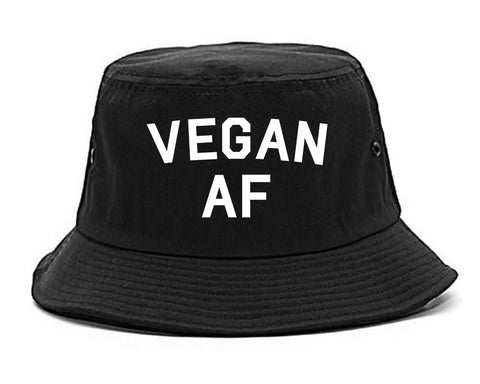 Vegan AF Vegetarian Black Bucket Hat