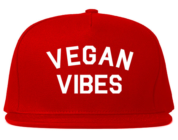 Vegan Vibes Vegetarian Red Snapback Hat