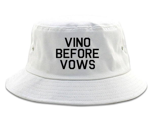 Vino Before Vows Wine Wedding Party White Bucket Hat