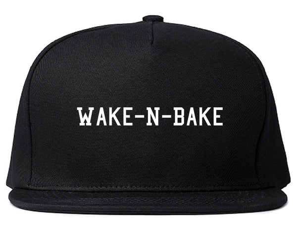 Wake N Bake Snapback Hat Black