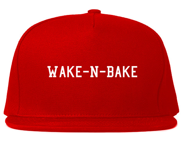 Wake N Bake Snapback Hat Red