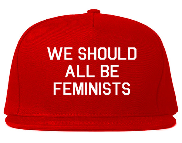 We Should All Be Feminists Red Snapback Hat