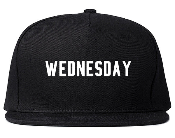 Wednesday Days Of The Week Black Snapback Hat