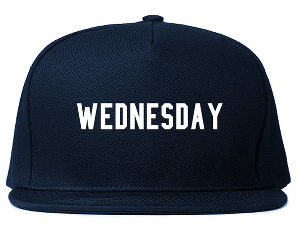 Wednesday Days Of The Week Blue Snapback Hat