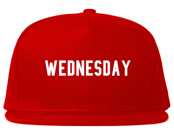 Wednesday Days Of The Week Red Snapback Hat