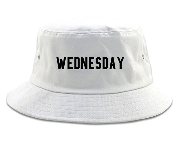 Wednesday Days Of The Week white Bucket Hat