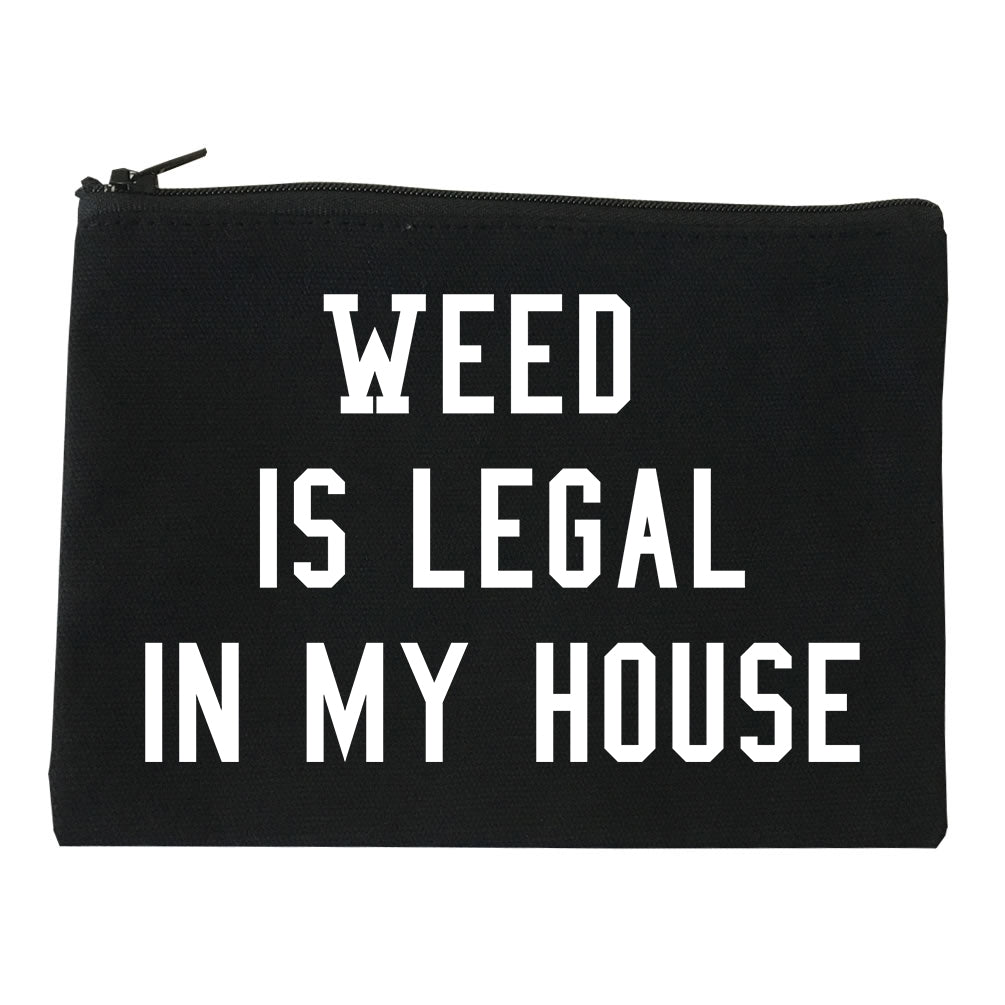 Weed Legal My House Funny Makeup Bag Red