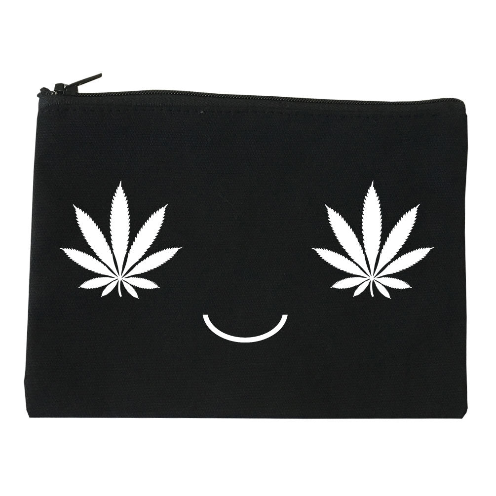 Weed Smiley Face Makeup Bag