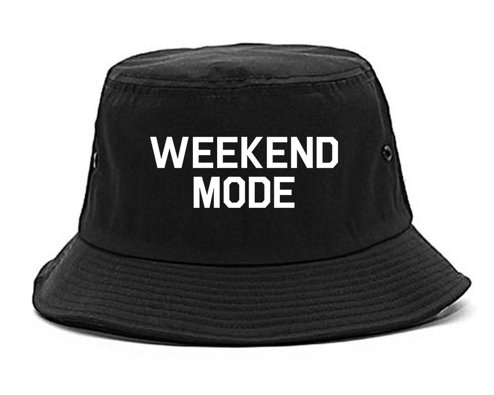 Weekend Mode Vacay Black Bucket Hat
