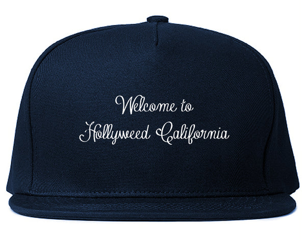Welcome To Hollyweed California Snapback Hat Blue