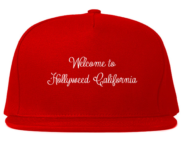 Welcome To Hollyweed California Snapback Hat Red