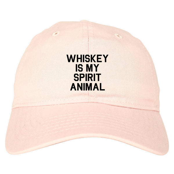 Whiskey Is My Spirit Animal Pink Dad Hat