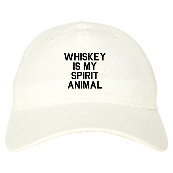 Whiskey Is My Spirit Animal White Dad Hat