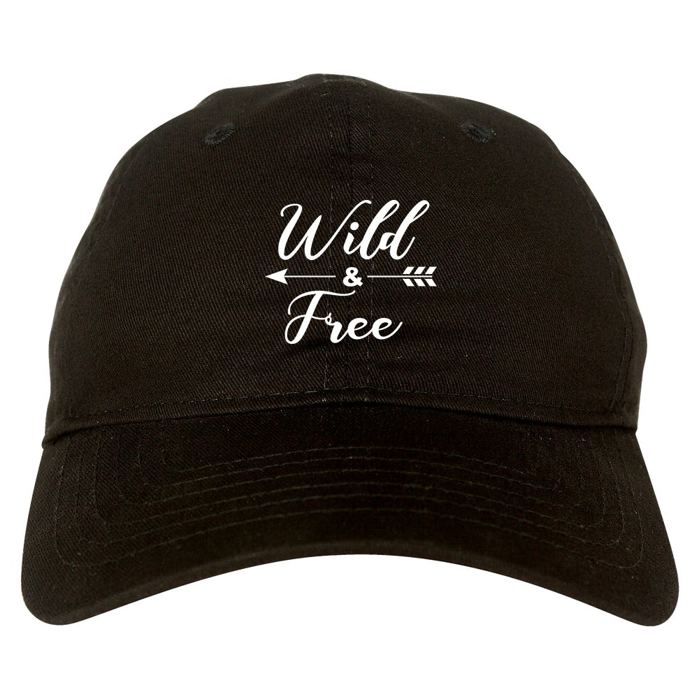 Wild And Free Arrow black dad hat