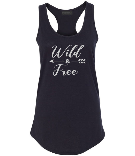 Wild And Free Arrow Black Womens Racerback Tank Top