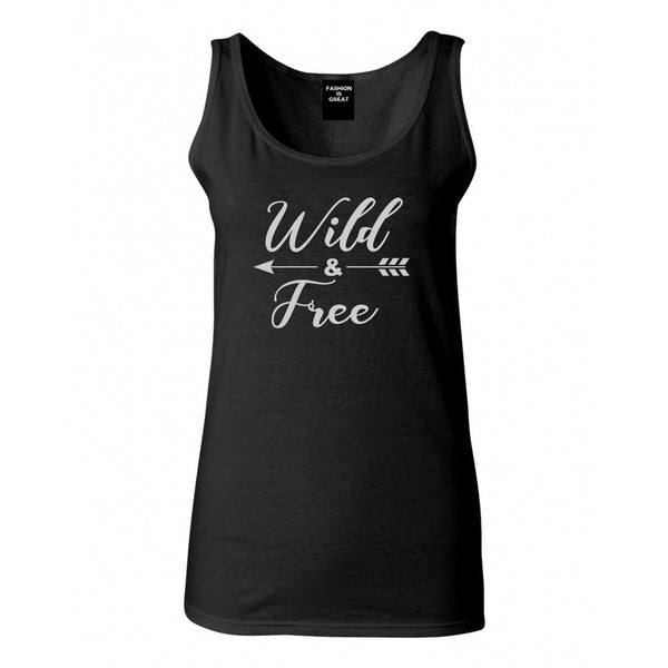 Wild And Free Arrow Black Womens Tank Top