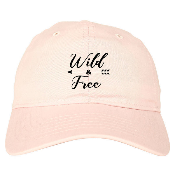 Wild And Free Arrow pink dad hat