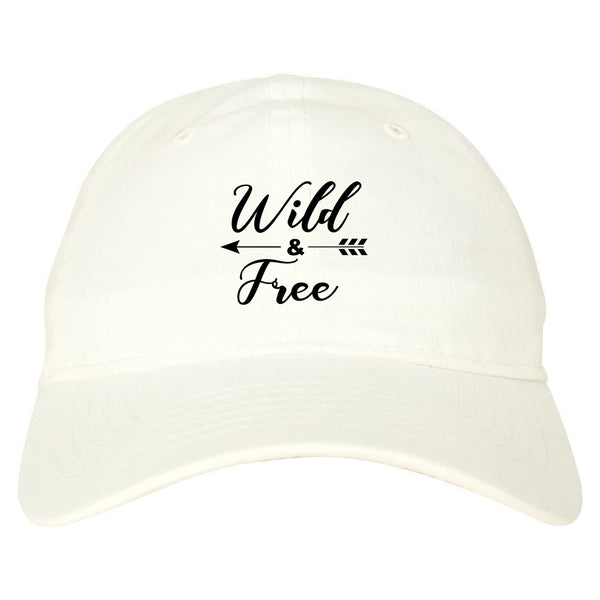 Wild And Free Arrow white dad hat