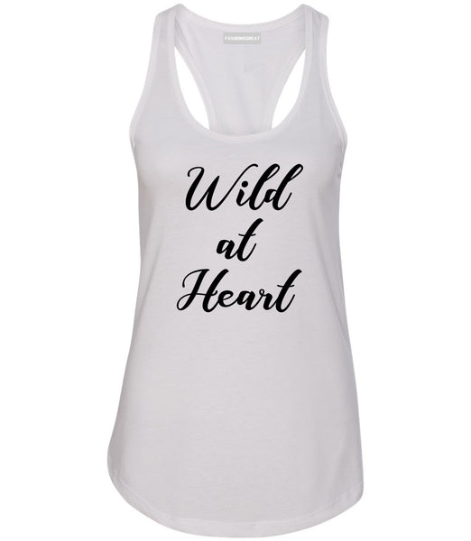 Wild At Heart White Racerback Tank Top