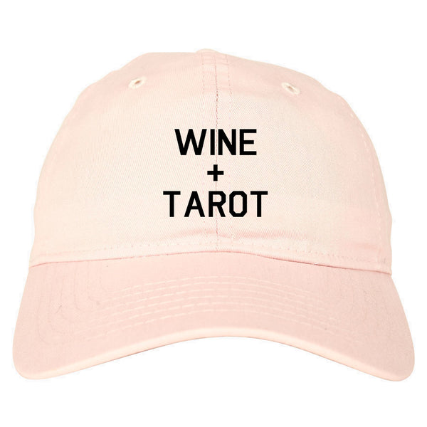 Wine And Tarot Cards pink dad hat