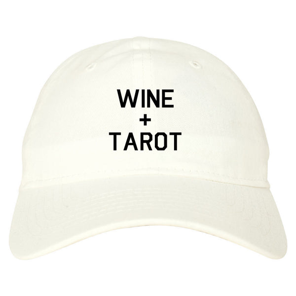 Wine And Tarot Cards white dad hat