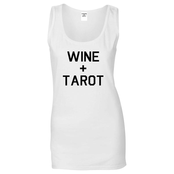 Wine And Tarot Cards White Womens Tank Top
