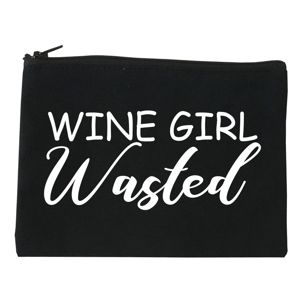 Wine Girl Wasted Funny Bachelorette Bridesmaid Black Makeup Bag