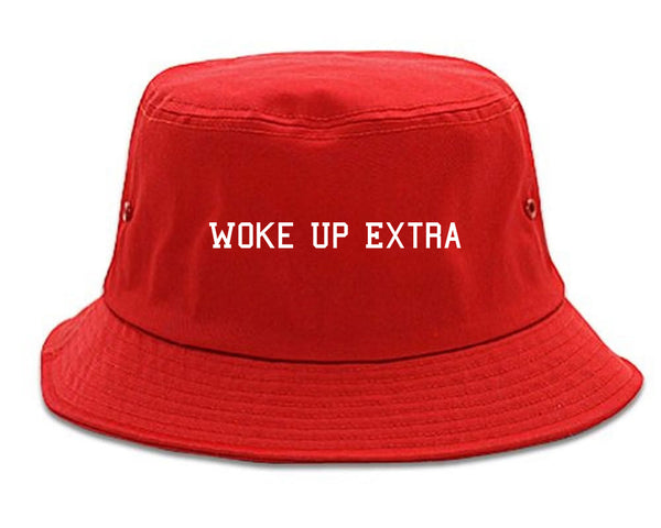 Woke Up Extra Bucket Hat Red