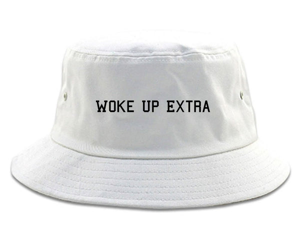 Woke Up Extra Bucket Hat White