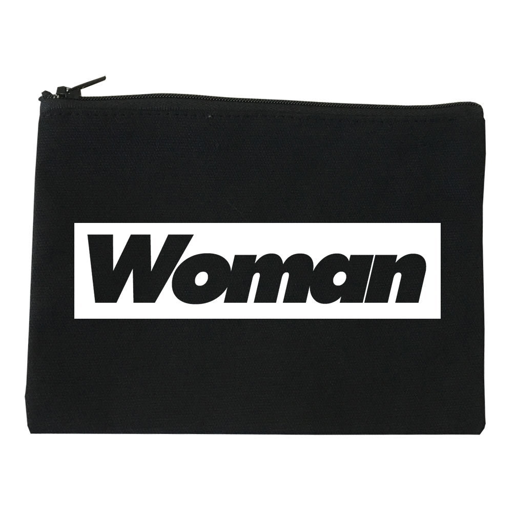 Woman Red Box Logo Makeup Bag Red