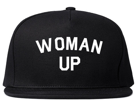Woman Up Feminist Black Snapback Hat