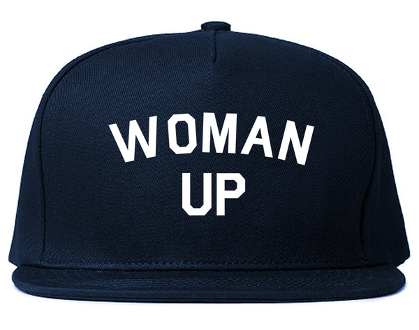 Woman Up Feminist Blue Snapback Hat