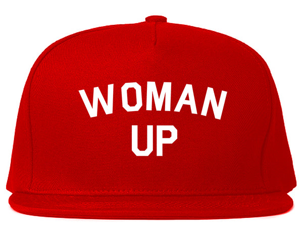 Woman Up Feminist Red Snapback Hat