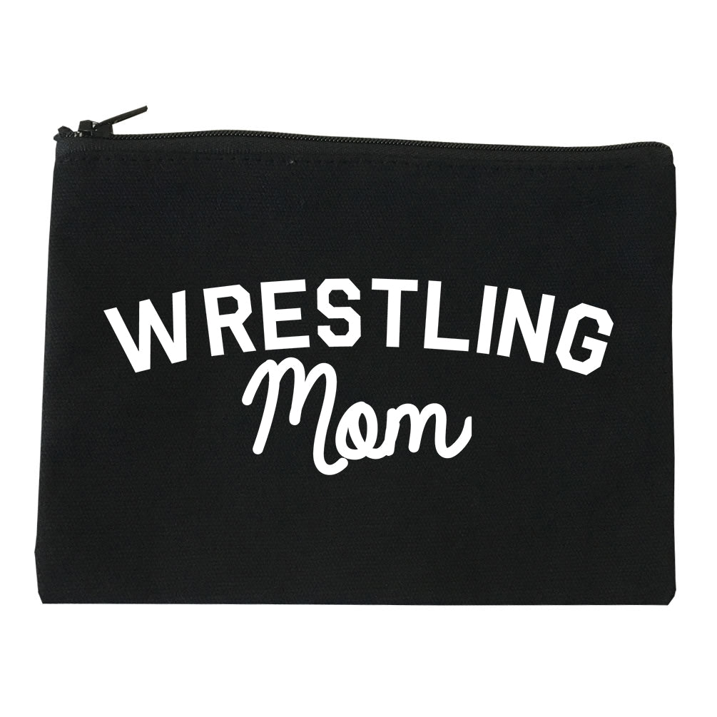 Wrestling Mom Sports Makeup Bag Red