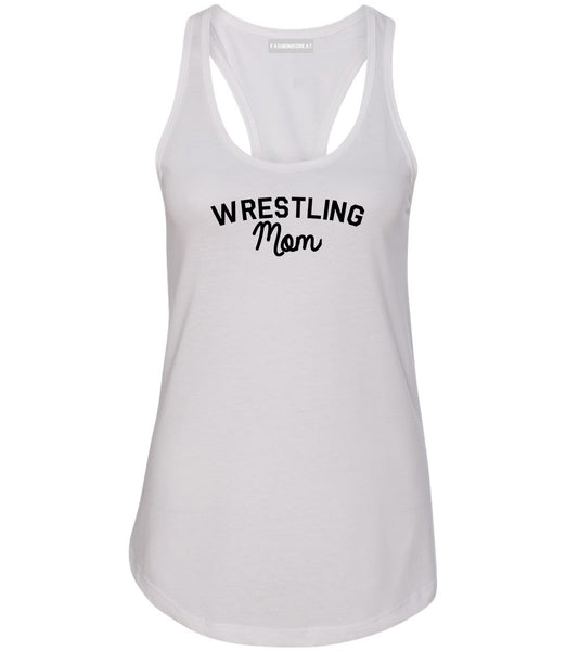 Wrestling Mom Sports Womens Racerback Tank Top White